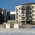 Snowy beach in Aurinkolahti, Helsinki